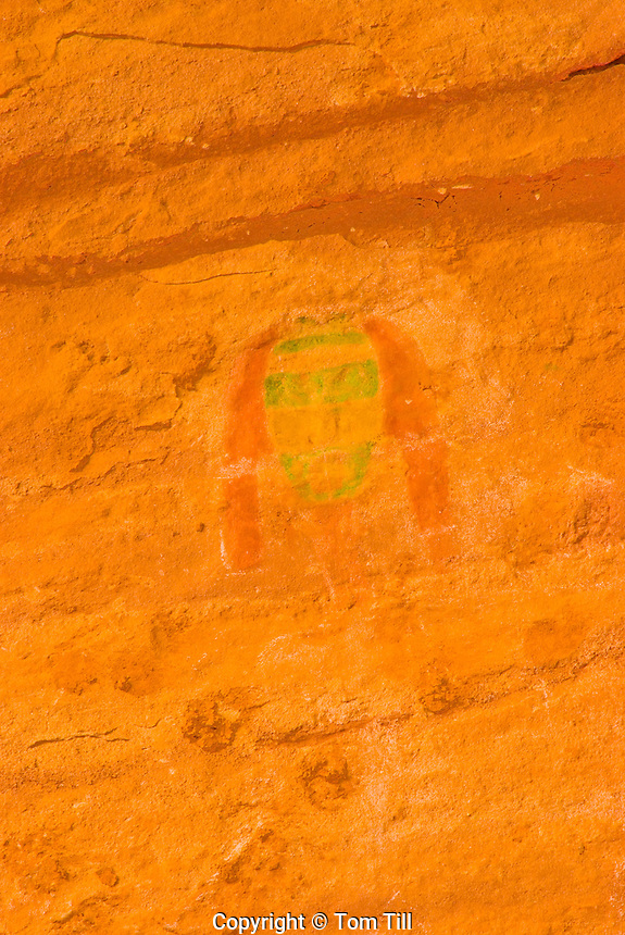 Green Mask pictograph      Grand Gulch Wilderness Study Area, Utah   Proposed San Juan Anasazi  Wilderness    Ancient Basketmaker  pictograph