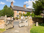Historic houses in village of Great Bedwyn, Vale of Pewsey, Wiltshire, England, UK