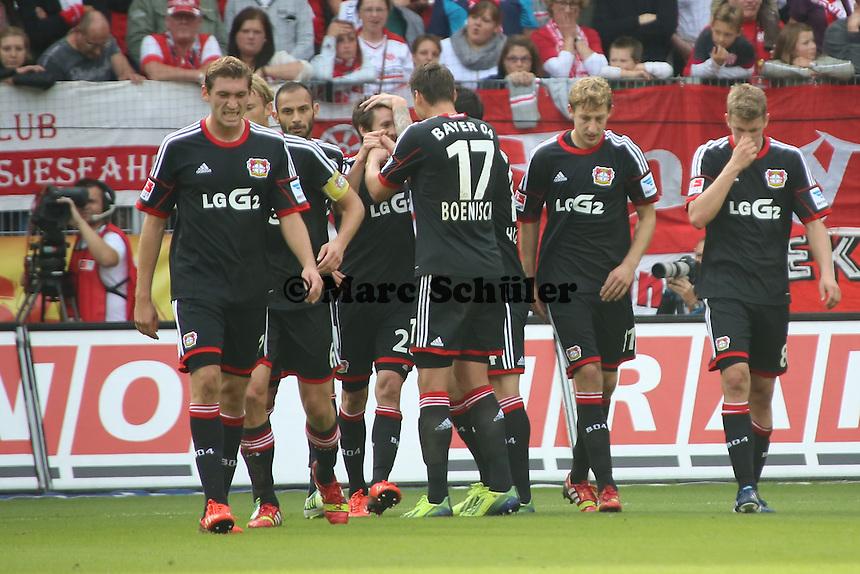 Torjubel Robbie Kruse (Leverkusen) beim 0:1 - 1. FSV Mainz 05 vs. Bayer 04 Leverkusen, Coface Arena, 6. Spieltag