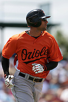 Baltimore Orioles Nick Markakis during a Grapefruit League Spring Training game at Holman Stadium on March 22, 2007 in Vero Beach, Florida.  (Mike Janes/Four Seam Images)
