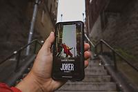 """NOVA YORK, EUA, 26.10.2019 - CINEMA-EUA - Escadas utilizadas no filme """"Coringa"""" é vista no Bronx na cidade de Nova York nos Estados Unidos . (Foto: William Volcov/Brazil Photo Press)"""