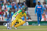 Aaron Finch (Australia) turns for his second run during India vs Australia, ICC World Cup Cricket at The Oval on 9th June 2019