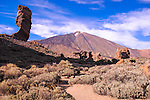Rock formations in the Teide National Park, Tenerife, Canary Islands, Spain