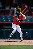 Erie SeaWolves third baseman Kody Eaves (22) at bat during a game against the Reading Fightin Phils on May 18, 2017 at UPMC Park in Erie, Pennsylvania.  Reading defeated Erie 8-3.  (Mike Janes/Four Seam Images)