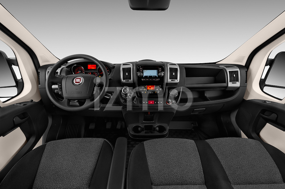 Stock photo of straight dashboard view of 2016 Fiat Ducato MultiJet-MH2 4 Door Cargo Van Dashboard