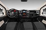 Stock photo of straight dashboard view of 2016 Fiat Ducato MultiJet-MH2 4 Door Cargo Van Dashboard