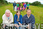 Pat O'Shea, Nora Fealey and Fionan McCarthy, Cromane Community Field Development Group, pictured with Kate Brennan, Erin Moroney, Sheena Willis, Maeve McCarthy, Diarmuid Riordan, Karen Griffin, Ruth O'Grady, Colin O'Sullivan, Ian Costello, Peter Smith, Samantha O'Connor, John Healy, Marcella Rietveld and John Costello as they announced fundraising plans for the development on Thursday. ............................................................................................