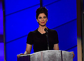 Sarah Silverman makes remarks at the 2016 Democratic National Convention at the Wells Fargo Center in Philadelphia, Pennsylvania on Monday, July 25, 2016.<br /> Credit: Ron Sachs / CNP<br /> (RESTRICTION: NO New York or New Jersey Newspapers or newspapers within a 75 mile radius of New York City)