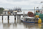 Pier on the Suriname River in the capital city of Paramaribo, Suriname.