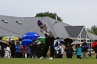Eoin Marsden (Tullamore) on the 1st tee during the Final round of the Irish Mixed Foursomes Leinster Final at Millicent Golf Club, Clane, Co. Kildare. 06/08/2017<br /> Picture: Golffile | Thos Caffrey<br /> <br /> <br /> All photo usage must carry mandatory copyright credit      (&copy; Golffile | Thos Caffrey)