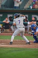 Kennard McDowell (7) of the Grand Junction Rockies bats against the Ogden Raptors at Lindquist Field on September 6, 2017 in Ogden, Utah. Ogden defeated Grand Junction 11-7. (Stephen Smith/Four Seam Images)