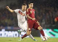 Spain's Alvaro Morata (r) and Germany's Mustafi during international friendly match.November 18,2014. (ALTERPHOTOS/Acero) /NortePhoto<br /> NortePhoto.com