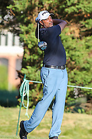 Bethesda, MD - July 1, 2017: Arjun Atwal hits his tee shot during Round 3 of professional play at the Quicken Loans National Tournament at TPC Potomac in Bethesda, MD, July 1, 2017.  (Photo by Elliott Brown/Media Images International)