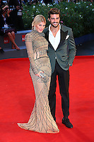 Hofit Golan and Mariano Di Vaglio attend the red carpet for the premiere of the movie 'The Danish Girl' during 72nd Venice Film Festival at Palazzo Del Cinema in Venice, Italy, September 5.<br /> UPDATE IMAGES PRESS/Stephen Richie