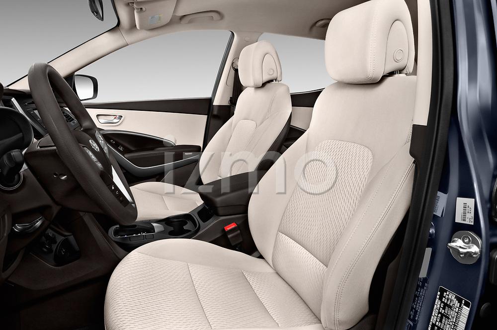 Front seat view of a 2018 Hyundai Santa Fe Sport Base 5 Door SUV front seat car photos