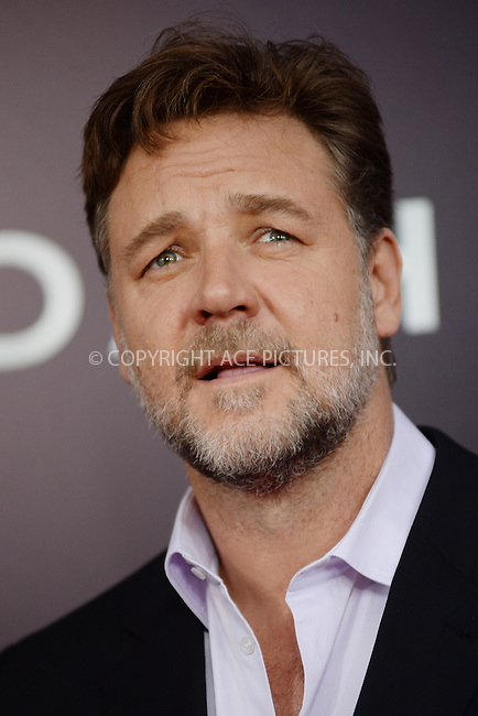 WWW.ACEPIXS.COM<br /> March 26, 2014 New York City<br /> <br /> Russell Crowe attends the 'Noah' New York premiere at Ziegfeld Theatre on March 26, 2014 in New York City.<br /> <br /> Please byline: Kristin Callahan<br /> <br /> ACEPIXS.COM<br /> <br /> Tel: (212) 243 8787 or (646) 769 0430<br /> e-mail: info@acepixs.com<br /> web: http://www.acepixs.com