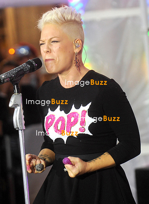 """Pink performs on NBC's """"Today"""" show in New York City..September 18, 2012."""
