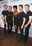 Brandyand the cast backstage at United presents 'Stars in the Alley' in  Shubert Alley on May 27, 2015 in New York City.