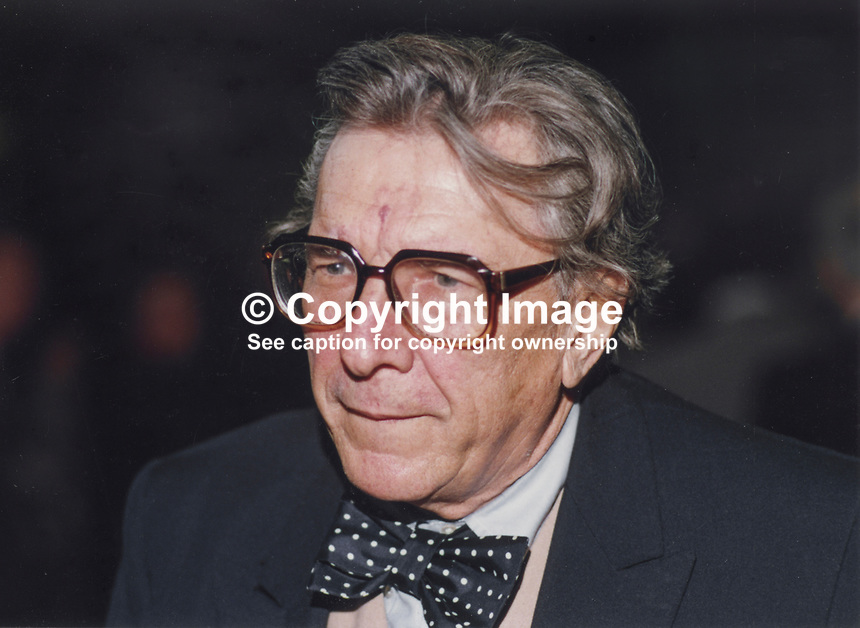 Sir Robin Day, BBC political commentator, broadcaster, journalist, UK, 19901058RD.<br />