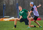 3 May 2016: The Vermont Commons School Flying Turtles Varsity Ultimate Team visits the Champlain Valley Union Redhawks at Champlain Valley Union High School in Hinesburg, Vermont. The Turtles defeated the Redhawks 15-5. Mandatory Credit: Ed Wolfstein Photo *** RAW (NEF) Image File Available ***