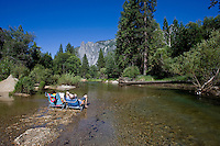 Yosemite Park, California, Usa, Giugno, 2007. Turisti nello Yosemite Park