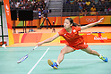 Nozomi Okuhara (JPN), <br /> AUGUST 16, 2016 - Badminton : <br /> Women's Singles Quarter-final <br /> at Riocentro - Pavilion 4 <br /> during the Rio 2016 Olympic Games in Rio de Janeiro, Brazil. <br /> (Photo by YUTAKA/AFLO SPORT)