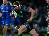 28th February 2020; RDS Arena, Dublin, Leinster, Ireland; Guinness Pro 14 Rugby, Leinster versus Glasgow; Alex Allan (Glasgow Warriors) breaks through to score a try