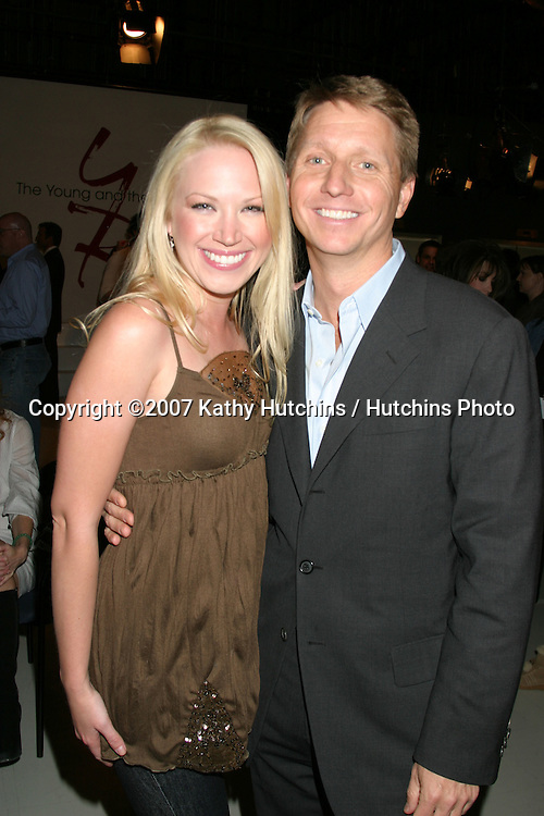 Adrienne Frantz & Brad Bell.Young and the Restless Celebrates 18 years with the #1 Rating.CBS Television City.Los Angeles,  CA.January 8, 2007.©2007 Kathy Hutchins / Hutchins Photo....