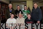 John Roche Memorial Indoor Soccer Tournament: The annual John Roche Memorial Indoor Soccer Tournament was held in the Listowel Community Centre on Tuesday last.The winning taem is as foloows in front: David Hilliard, Andy Boyd &  Joshua Boyd. Back :Tom Roche ( father oof John),Mike Collins, Stephen O'Connor who als won player of the tournament & Eoin Hand, former Irish Manager who presented the prizes..