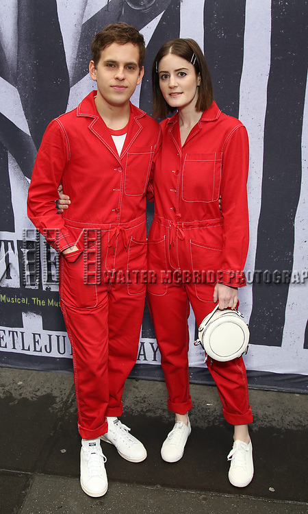 """Taylor Trensch and Kayla Foster attends the Broadway Opening Night Performance for """"Beetlejuice"""" at The Wintergarden on April 25, 2019  in New York City."""