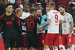 30.11.2019, RheinEnergieStadion, Koeln, GER, 1. FBL, 1.FC Koeln vs. FC Augsburg,<br />  <br /> DFL regulations prohibit any use of photographs as image sequences and/or quasi-video<br /> <br /> im Bild / picture shows: <br /> Birger Verstraete (FC Koeln #8), verletzt sich und wird von Daniel Baier (FC Augsburg #10),  umarmt<br /> <br /> Foto © nordphoto / Meuter