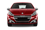 Car photography straight front view of a 2016 Peugeot 208 GTI 3 Door Hatchback 2WD Front View