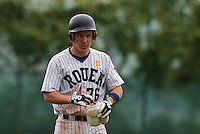 03 June 2010: Catcher Boris Marche of Rouen is seen during the 2010 Baseball European Cup match won  8-4 by C.B. Sant Boi over the Rouen Huskies, at the Kravi Hora ballpark, in Brno, Czech Republic.