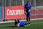 Spainsh David de Gea, Pepe Reina and Sergio Asenjo during the training of the spanish national football team in the city of football of Las Rozas in Madrid, Spain. November 10, 2016. (ALTERPHOTOS/Rodrigo Jimenez)