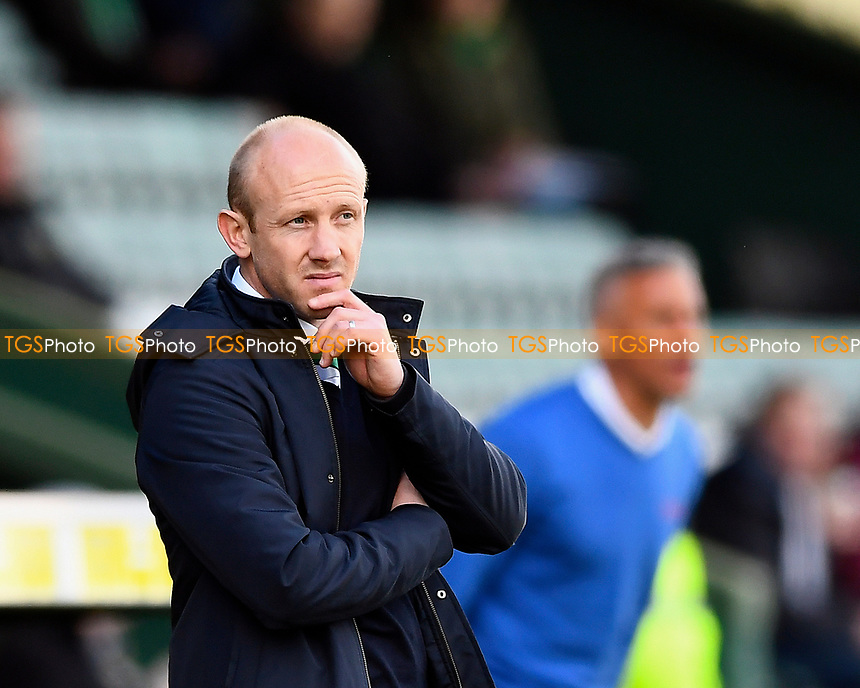 Yeovil Town Manager Darren Way left looks glum as his side are down to 10 men and the score 2-0 to Carlisle United during Yeovil Town vs Carlisle United, Sky Bet EFL League 2 Football at Huish Park on 1st April 2017