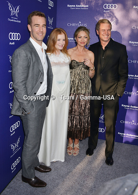 Rebecca Gayheart-Dane, Eric Dane, wiith Kimberly Brook, James Van Der Beek  at the 13th Chrysalis Butterfly Ball in Brentwood Private Mandeville Canyon state in Los Angeles.