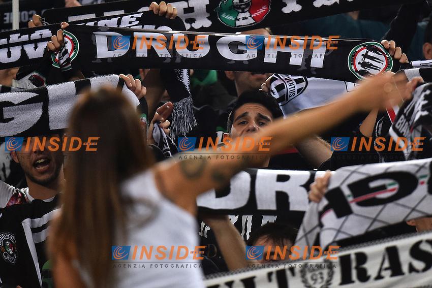 Tifosi Juventus Supporters <br /> Roma 22-11-2014 Stadio Olimpico, Football Calcio Serie A . Lazio - Juventus. Foto Andrea Staccioli / Insidefoto