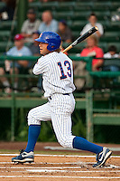 Brett Jackson (13) of the Daytona Cubs during a game vs. the Charlotte Stone Crabs June 4 2010 at Jackie Robinson Ballpark in Daytona Beach, Florida. Charlotte won the game against Jupiter by the score of 6-3.  Photo By Scott Jontes/Four Seam Images