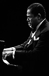 John Lewis, 9/19/75, Monterey Jazz Festival. American jazz pianist and composer best known as the musical director of the Modern Jazz Quartet.