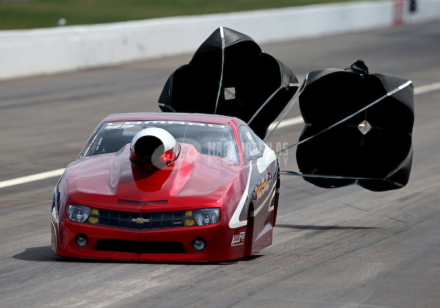 Sept. 1, 2013; Clermont, IN, USA: NHRA pro stock driver Paul Pittman during qualifying for the US Nationals at Lucas Oil Raceway. Mandatory Credit: Mark J. Rebilas-