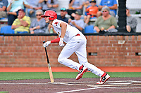 Johnson City Cardinals third baseman Brady Whalen (7) swings at a pitch during a game against the Bristol Pirates at TVA Credit Union Ballpark on June 23, 2017 in Johnson City, Tennessee. The Pirates defeated the Cardinals 4-3. (Tony Farlow/Four Seam Images)