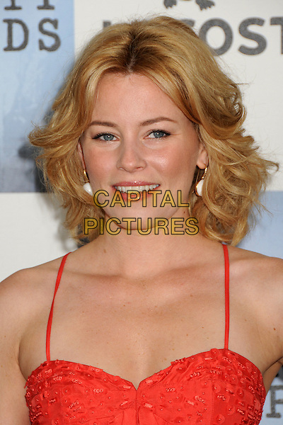 ELIZABETH BANKS .2009 Film Independent's Spirit Awards - Arrivals held at the Santa Monica Pier, Santa Monica, CA, USA, .21st February 2009..indie independent portrait headshot orange .CAP/ADM/BP.©Byron Purvis/Admedia/Capital PIctures