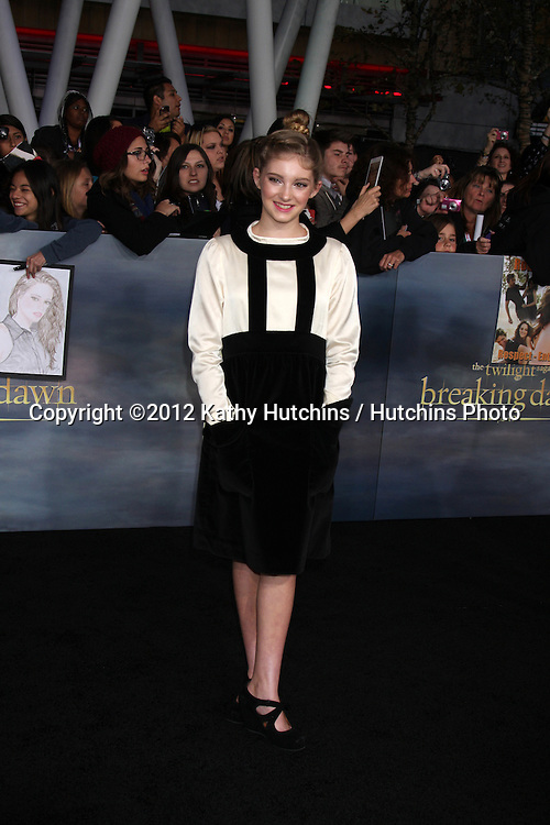 """LOS ANGELES - NOV 12:  Willow Shields arrive to the 'The Twilight Saga: Breaking Dawn - Part 2"""" Premiere at Nokia Theater on November 12, 2012 in Los Angeles, CA"""