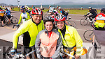 John Dowling, Tralee, Michelle Devane, Portmagee and Linda O'SheaDowling, Caherciveen in Waterville at the Ring of Kerry cycle on Saturday.