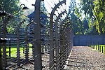Tereny bylego niemieckiego nazistowskiego obozu koncentracyjnego i zaglady, Auschwitz<br /> Electrified fence - grounds of the former German Nazi concentration and extermination camps Auschwitz I, Poland