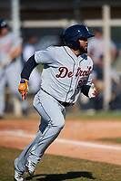 Detroit Tigers Ronny Rodriguez (80) during a Minor League Spring Training intrasquad game on March 24, 2018 at the TigerTown Complex in Lakeland, Florida.  (Mike Janes/Four Seam Images)
