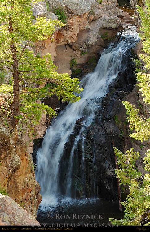 Jemez Falls, East Fork of the Jemez River, Jemez Mountains, Santa Fe National Forest, Los Alamos, New Mexico