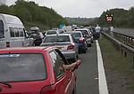 Traffic delay M4 motorway, England