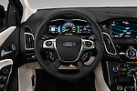 Car pictures of steering wheel view of a 2016 Ford Focus 5-Door-Hatch-Electric 5 Door Hatchback Steering Wheel