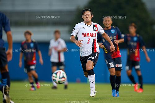 Ryu Okada (Jubilo), <br /> JULY 26, 2014 - Football /Soccer : <br /> 2014 J.LEAGUE Division 2 <br /> between Yokohama FC 4-0 Jubilo Iwata <br /> at NHK Spring Mitsuzawa Football Stadium, Kanagawa, Japan. <br /> (Photo by AFLO SPORT) [1205]
